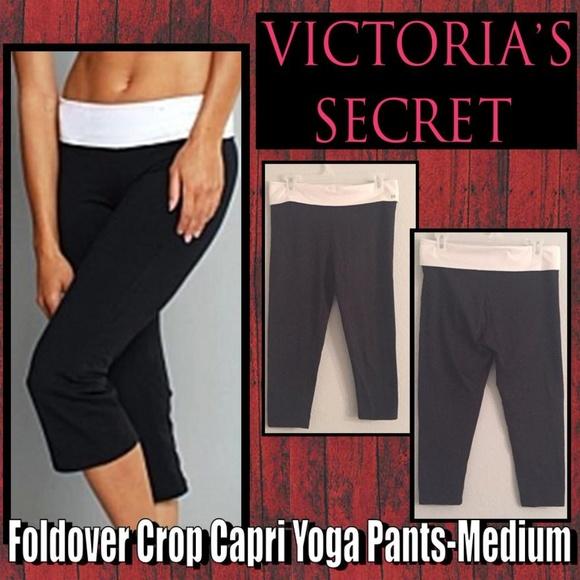 eef7a0353856a Fold-over Crop Capri Yoga Pants